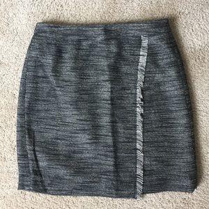 Loft Cross-Over Fringe Skirt